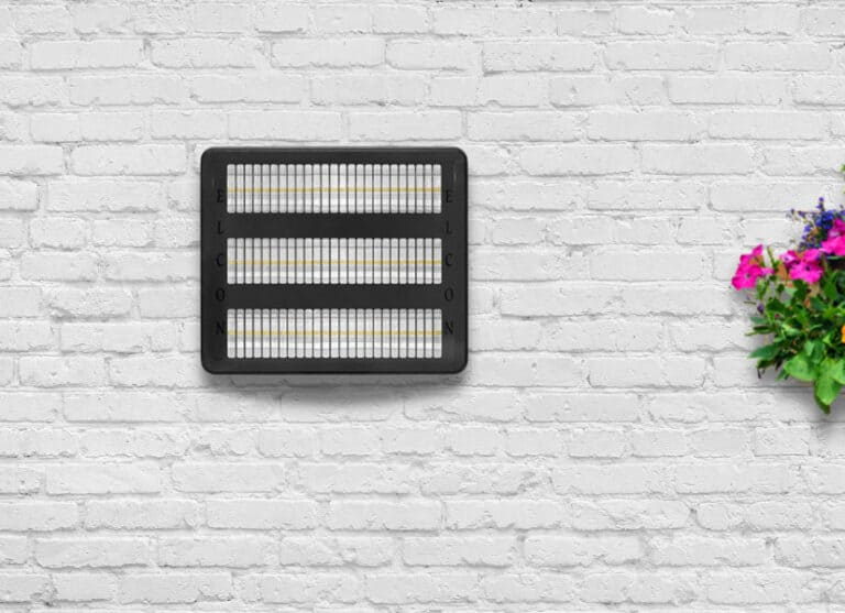 infrared heater on a white wall